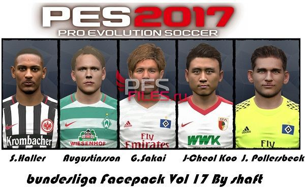 PES 2017 Bundesliga Facepack Vol 17 by Shafata