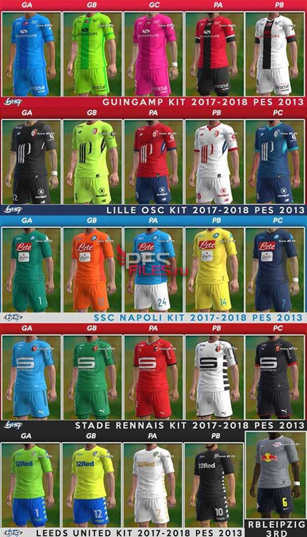 PES 2013 Update Kits Season 2017-2018