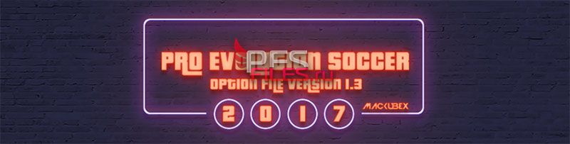 Pes 2017 Update OF V1.3  for PTE PATCH 5.3