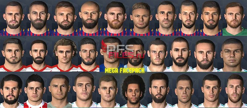 PES 2017 Mega Facepack by Messi Pradeep