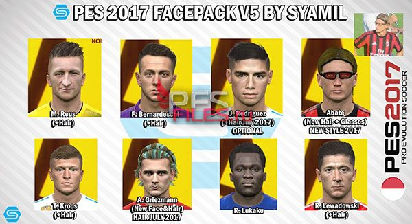 PES 2017 Facepack V5 by Syamil