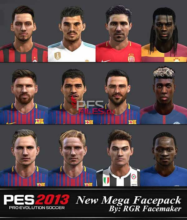 PES 2013 New Mega Facepack