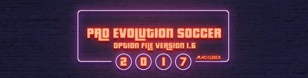 PES 2017 Option File Update Version 1.6