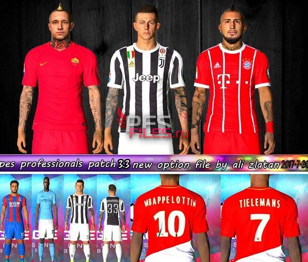 PES 2017 Pesprofessionals 3.3 Update Transfers V5