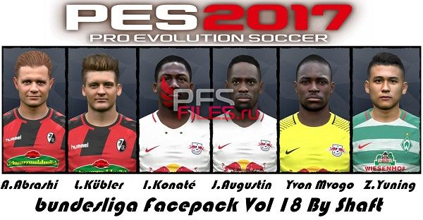PES 2017 Bundesliga Facepack Vol 18 by Shafata
