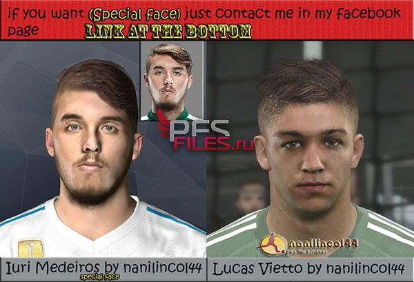 Pes 2017 Medeiros and Luciano Vietto Face