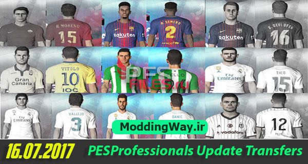 PES 2017 Pesprofessionals 3.1 Update Transfer