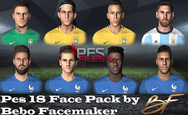 PES 2018 Facepack to PES 2017