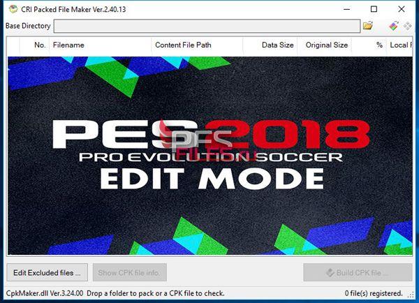 CRI Packed File Maker v2 40 13 0 for PES 2018, патчи и моды