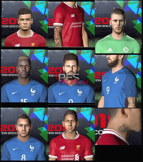 PES 2018 FacePack for PES 2017