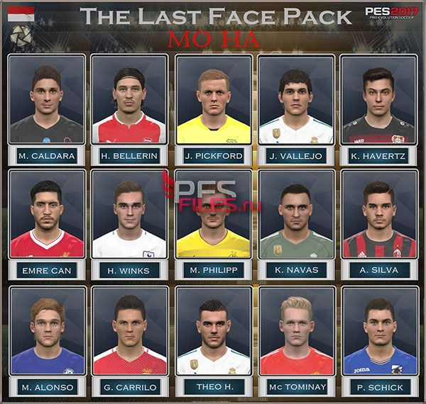 PES 2017 The Last Face Pack