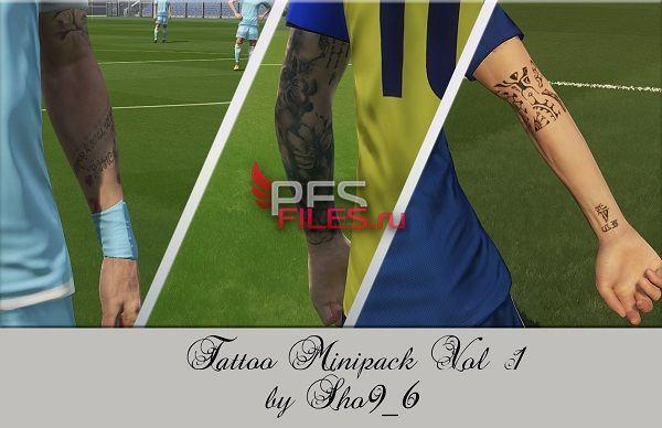 PES 2018 Tattoo Mini Pack Vol 1 by Sho9_6