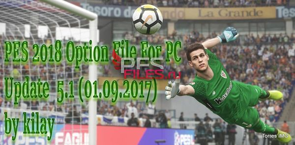 PES 2018 Option File For PC Update  5.1