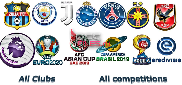 PES 2018 3D Logos (All Competitions) by pablobest2012