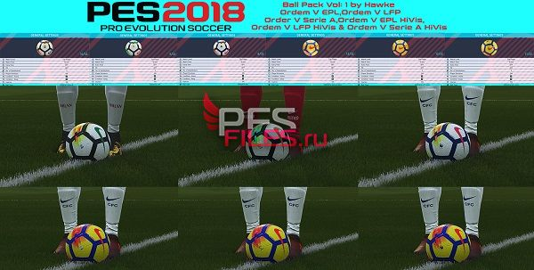 PES 2018 Ball Pack Vol:1 by Hawke