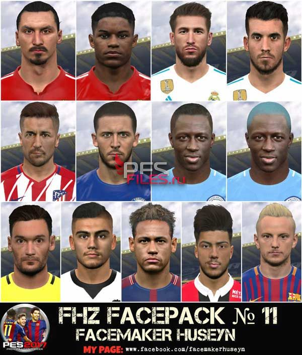 PES 2017 FHZ FACEPACK №10 by Huseyn