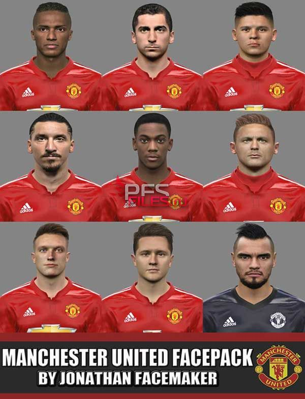 PES 2017 Manchester United Facepack