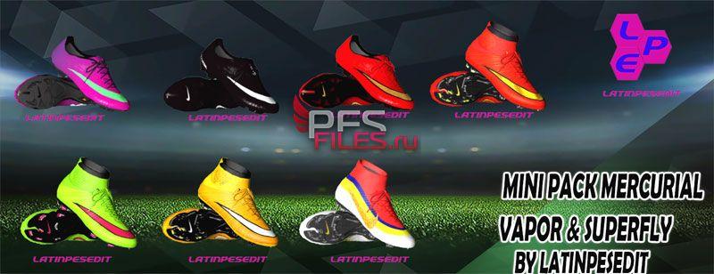 cd2768188482 PES2017 Mini Pack Boots Mercurial Vapor & Superfly - великолепное  дополнение к вашей игре Pes 2017. Теперь на ваших футболистов будут  реалистичные бутсы ...