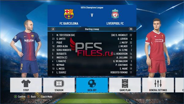 PES 2018 FIFA Font Style