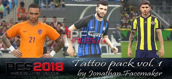 PES 2018 TattooPack Vol.1
