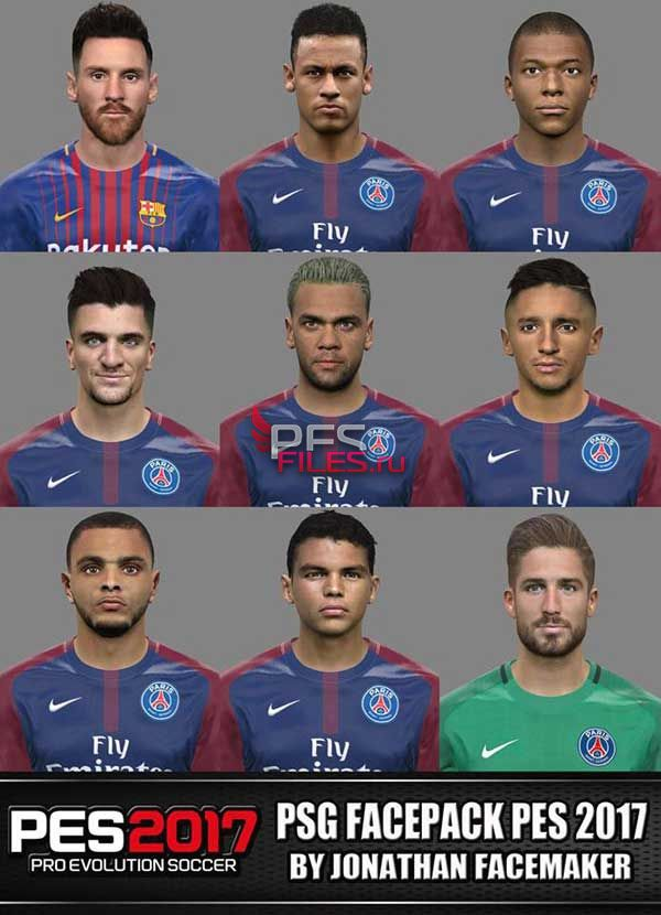 PES 2017 PSG + Messi Facepack
