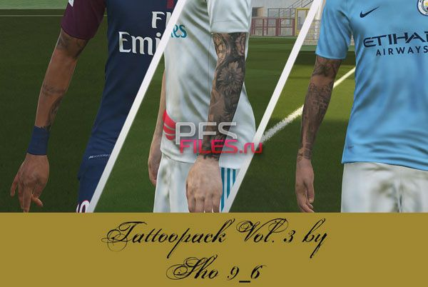 PES 2018 Tattoopack Vol. 3