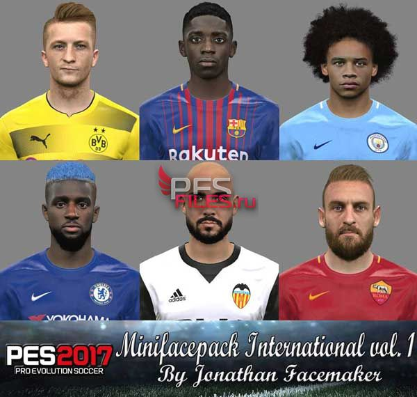 PES 2017 Minifacepack International vol. 1