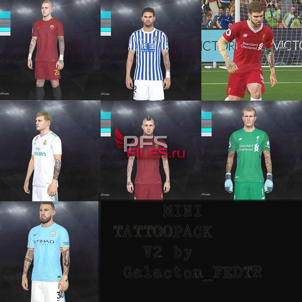 PES 2018 Tattoo Pack Vol. 2