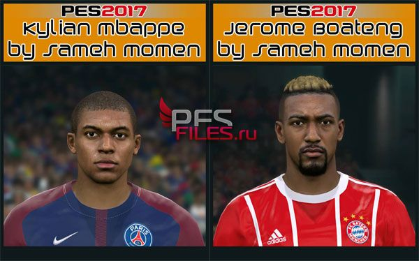 Pes 2017 Jerome Boateng and  Mbappe Face
