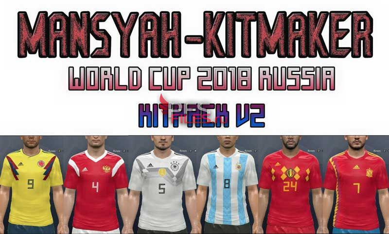 PES 2017 Kitpack V2 World Cup Russia 2018