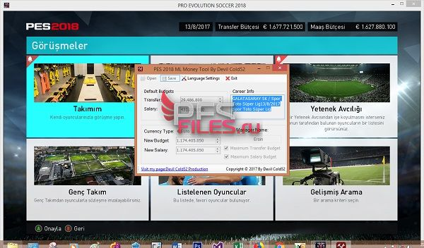 PES 2018 ML Money Tool 1.0 by Devil Cold52