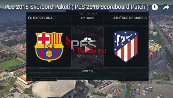 PES 2018 Scoreboard Patch