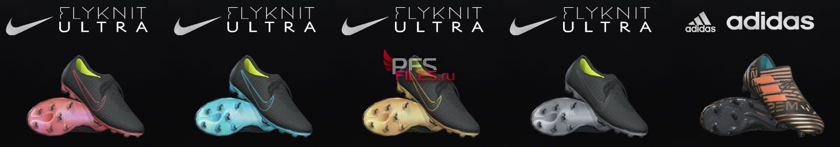 PES 2018 Nike Flyknit Ultra Pack + Messi