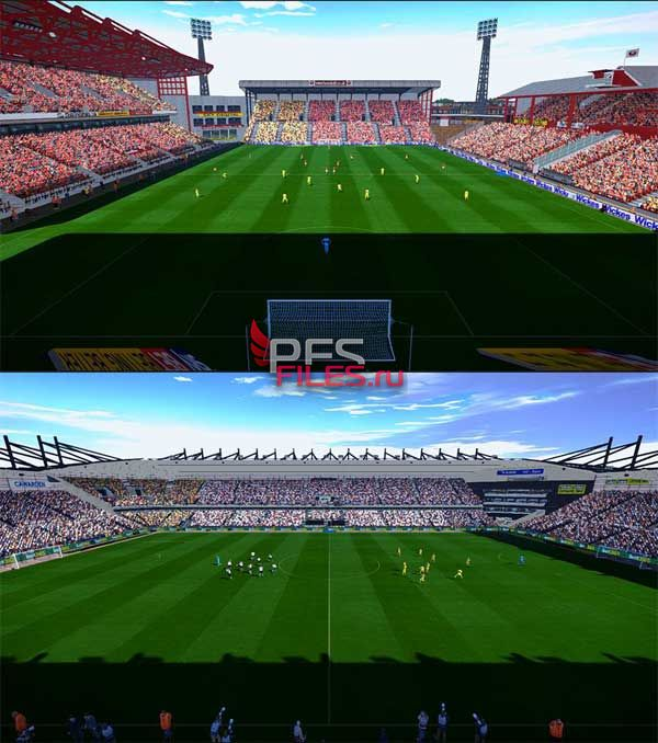 Pes2017 Pride Park Stadium and Oakwell Stadium