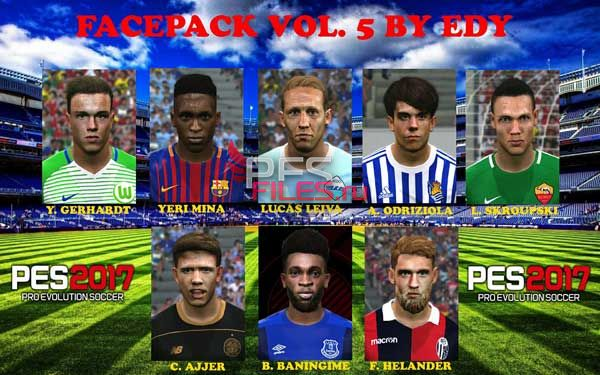 PES 2017 facepack vol 5