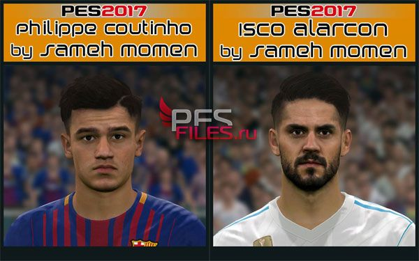 Pes 2017 Coutinho and Isco Face