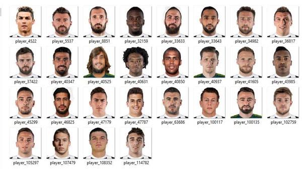 Pes 2017 Miniface Juventus Fc 2018 2019 Patchi I Mody