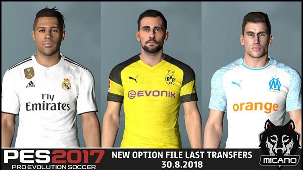 option file pes 2017 transfer january 2019