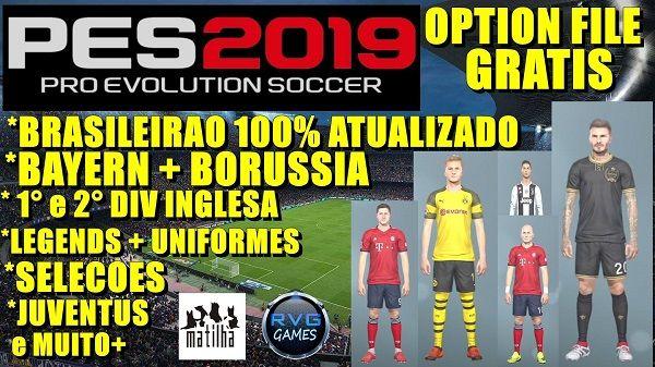 PES 2019 PS4 Option File + Legends v2 0, патчи и моды