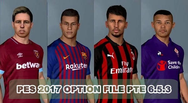 PES 2019 PTE Patch 2019 Option File 11 10 2018, патчи и моды