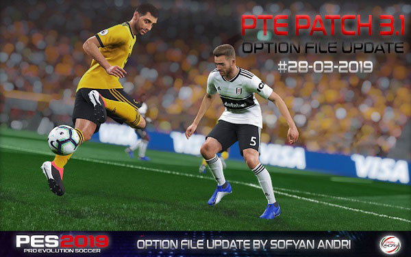 PES 2019 Option File For PTE 3.1 28.03.2019