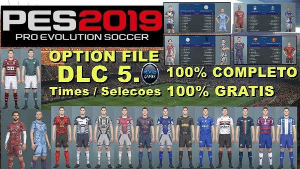PES 2019 PS4 Complete Option File DLC 5 0 by RVGRAPHA, патчи и моды