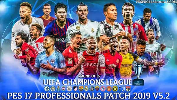 PES 2017 OF PES Professionals Patch V5.2 Update 9 June 2019