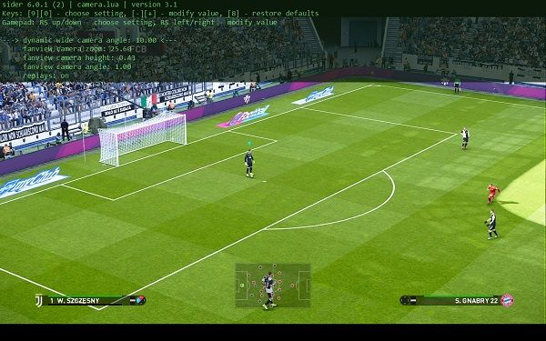 PES 2020 Camera 3 1 for Sider 6 0 1 by juce, патчи и моды