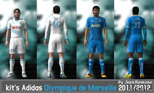 Kit's Adidas Olympique de Marseille 2011/2012