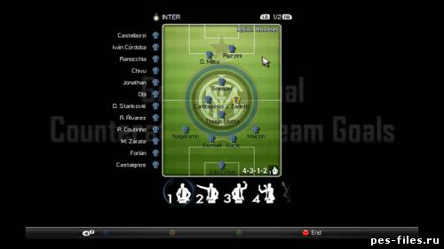 Inter Milan Gameplan Pitch для PES 2012