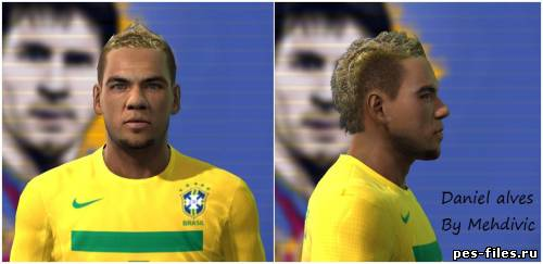 Pes 2011 Dani Alves face