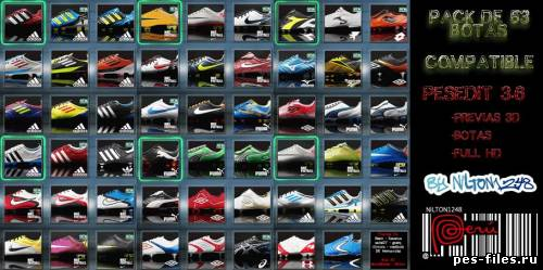 Pack De Botas (53 Boots) PesEdit 3.6 Full HD