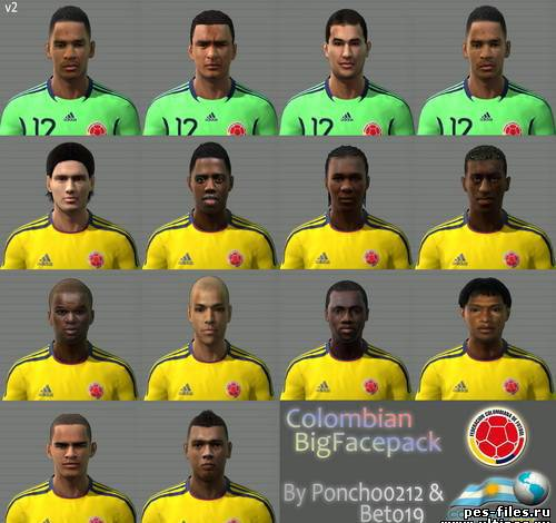 Pes 2011 Colombian Big Facepack