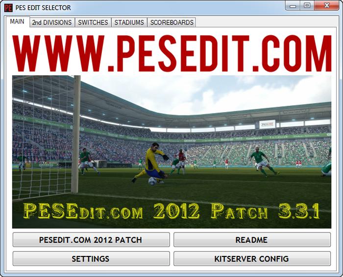 Скачать PESEDIT.COM 2012 PATCH 3.3.1 UPDATE бесплатно. Скачать Патчи для F